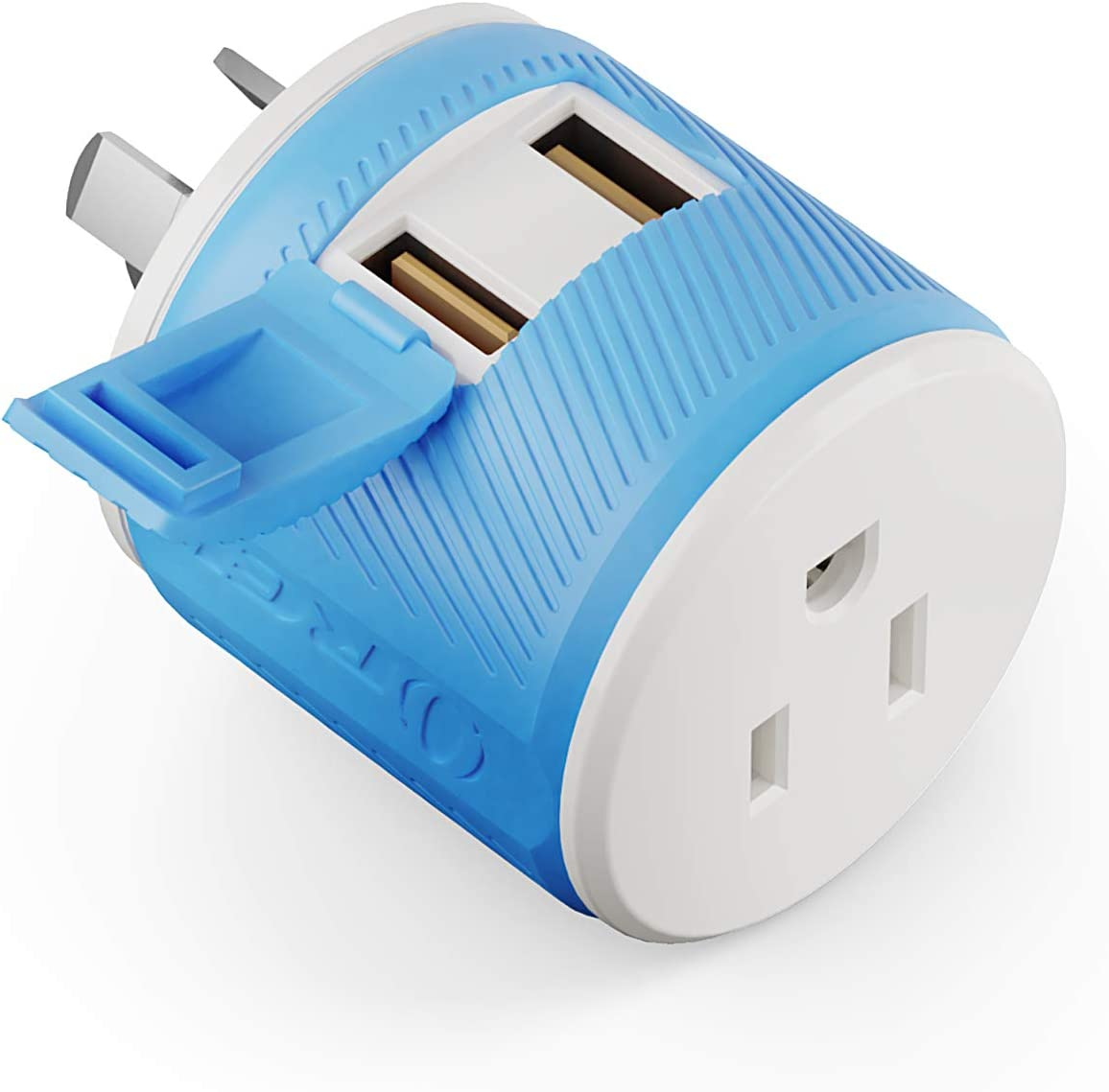 Australia, New Zealand, China Travel Plug Adapter by OREI with Dual USB + Surge Protection - Type I (U2U-16), Will Work with Cell Phones, Camera, Laptop, Tablets, iPad, iPhone and More