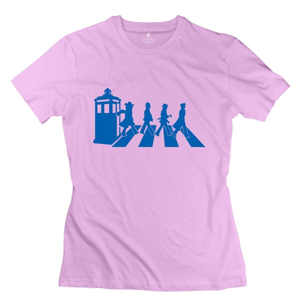 WXTEE Women's Doctor Who Beatles Tee Yellow