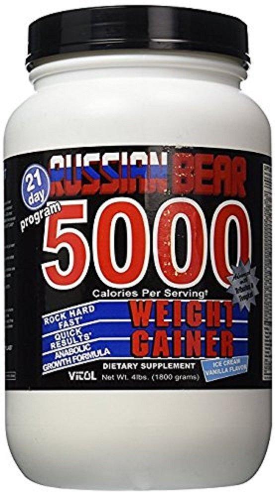 Vitol Russian Bear 5000, Ice Cream Vanilla 4lb Bottle