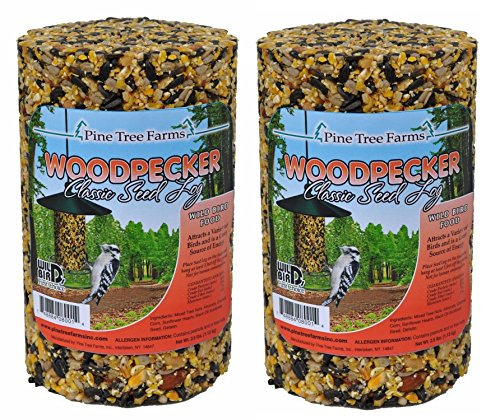 Pine Tree Farm Woodpecker Classic Seed Log, 40-Ounce