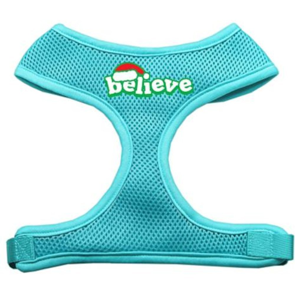 Mirage Pet Products Believe Screen Print Soft Mesh Dog Harnesses, X-Large, Aqua