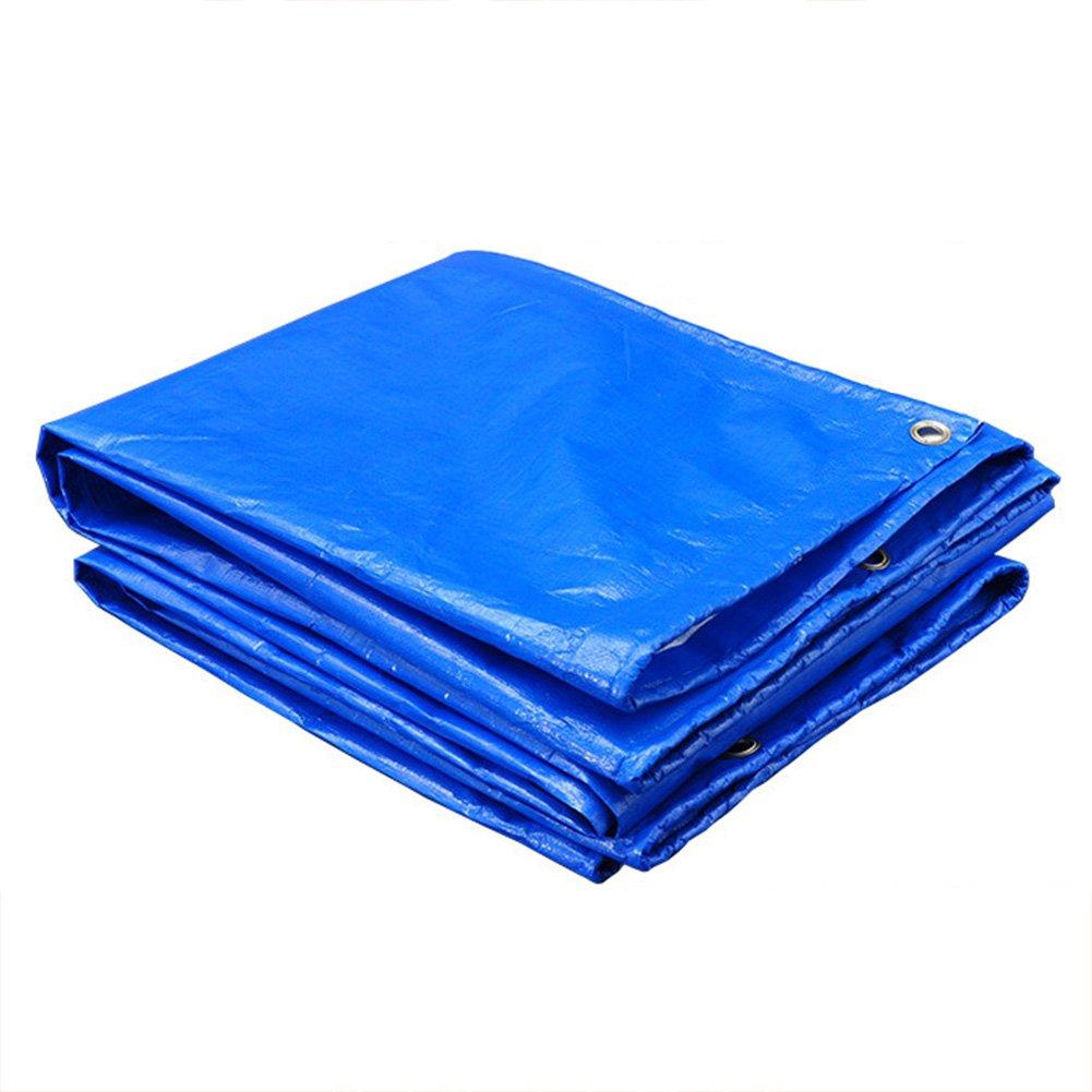 CAOYU Plane, im Freien Wasserdichte Plane doppelseitige feuchtigkeitsfeste Fracht staubdicht Tuch Hochtemperatur-Anti-Aging Zelt Tuch, blau + weiß
