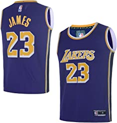 61c78562e82c OuterStuff Youth Los Angeles Lakers  23 LeBron James Kids Basketball Jersey