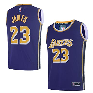 the best attitude e40cb 33316 Amazon.com  OuterStuff Youth Los Angeles Lakers  23 LeBron James Kids Basketball  Jersey  Clothing