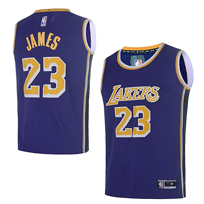 best website 4abe3 b00a7 OuterStuff Youth Los Angeles Lakers #23 LeBron James Kids Basketball Jersey