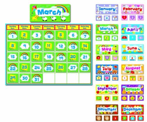 Carson Dellosa Complete Calendar Kit Bulletin Board Set (110113) (Boards Elementary Bulletin)