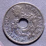 1925 IE F0061 French Indo China 5 cents vintage DE PO-01