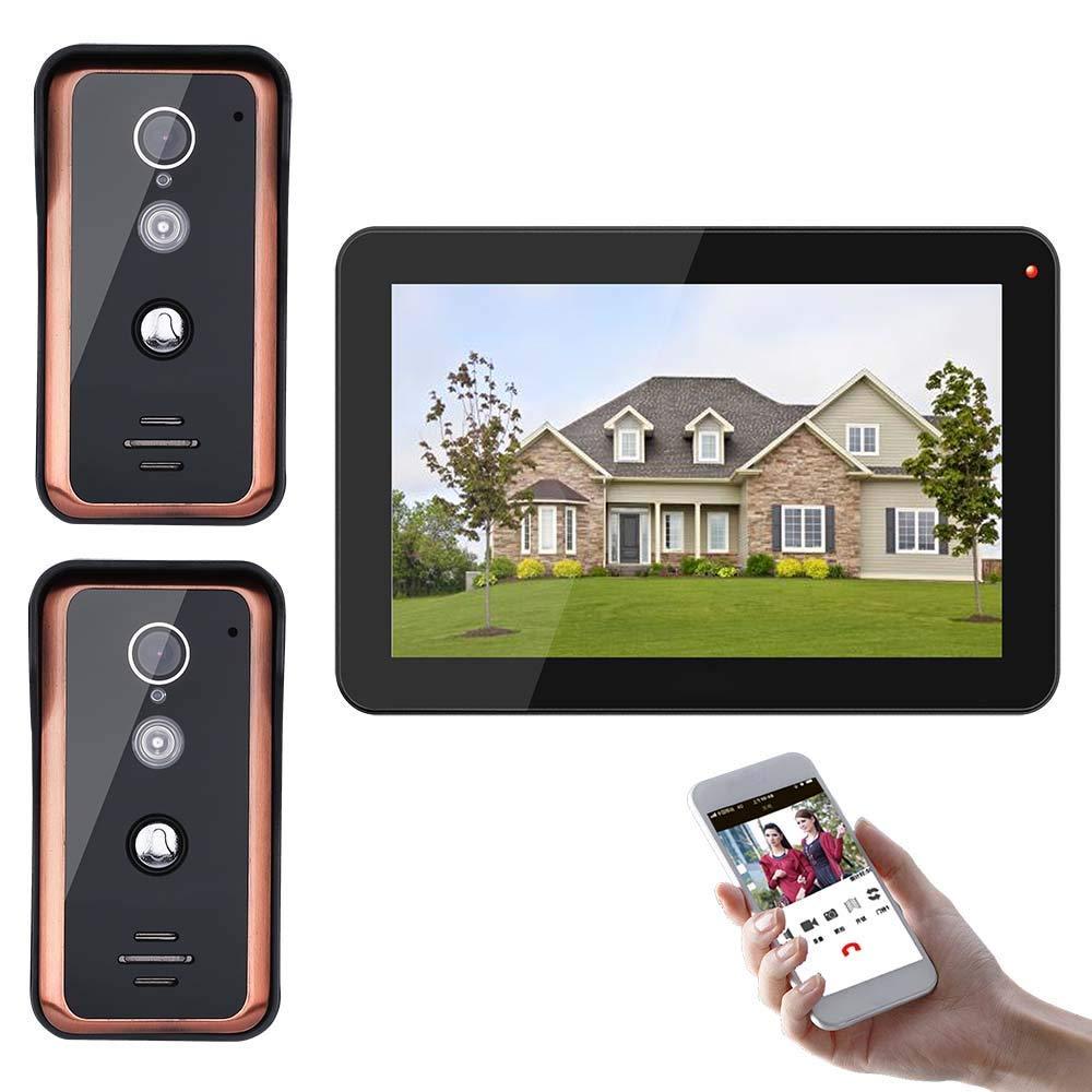 TQ 9 inch smart video doorbell Wifi video door phone intercom access control system HD 1000TVL camera