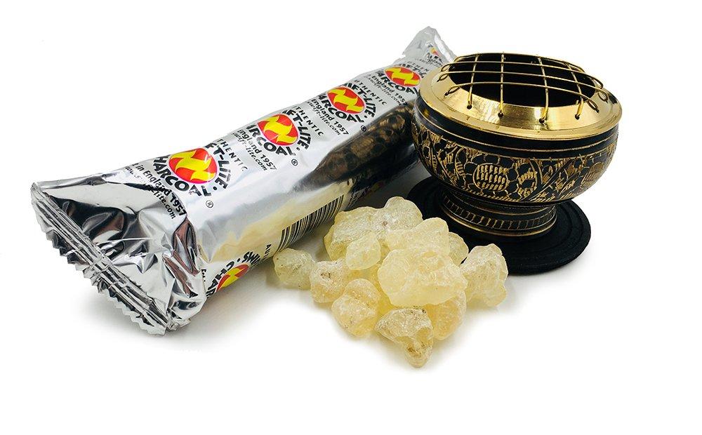 Alternative Imagination Premium Copal Burning Kit (with Tibetan Incense Burner or Brass Screen Burner) (Black Brass) by Alternative Imagination (Image #4)