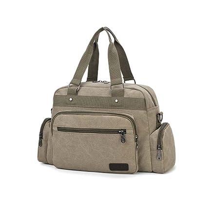 cf7d5d9696b5 Amazon.com: WEYUN Sport Outdoor Canvas Travel Duffel Bag Overnight ...
