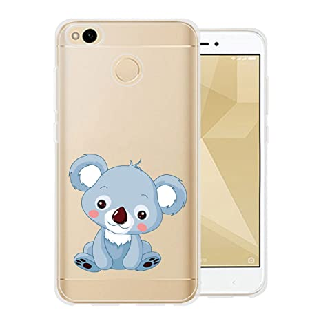 Funda para Xiaomi Redmi 4X Carcasa , YIGA Moda Animal lindo Caso Cristal Transparente Funda TPU Gel Cubierta De Silicona Suave Tapa Case Cover para ...
