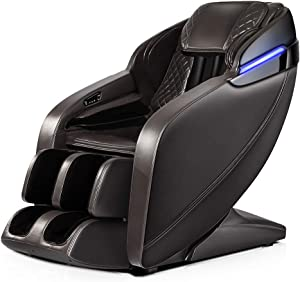 SGorri Massage Chair, Zero Gravity and Shiatsu Recliner with Bluetooth, LED, Hip Heating, Foot Massage and Air Pressure for Whole Family,SG-3101
