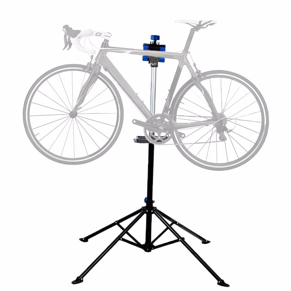 Bike Repair Stand Rack Foldable Cycle Bicycle Workstand Home Pro Mechanic Maintenance Tool Adjustable 41'' To 75'' With Telescopic Arm Clamp Lightweight and Portable by Noa Store (Image #3)
