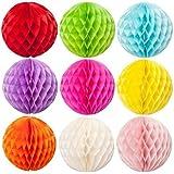 "SUNBEAUTY 3""(8cm) Pack of 20 Small Decorative Tissue Paper Honeycomb Balls Tissue Paper Flower Ball Birthday Decoration, Wedding Party Decor, Pom Poms Balls, Pom Poms Decoration"