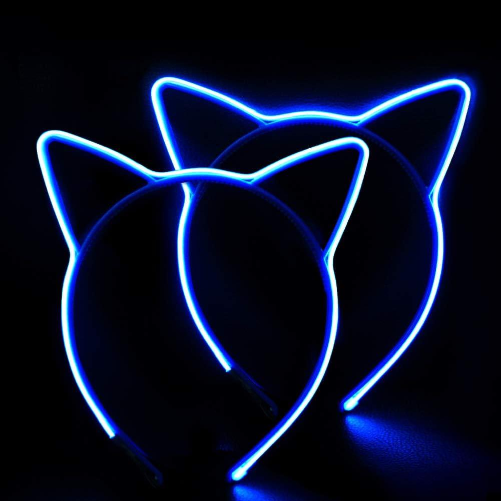 HOME MOST Intermitente LED Light Up Cat Ears Diadema para Niños ...