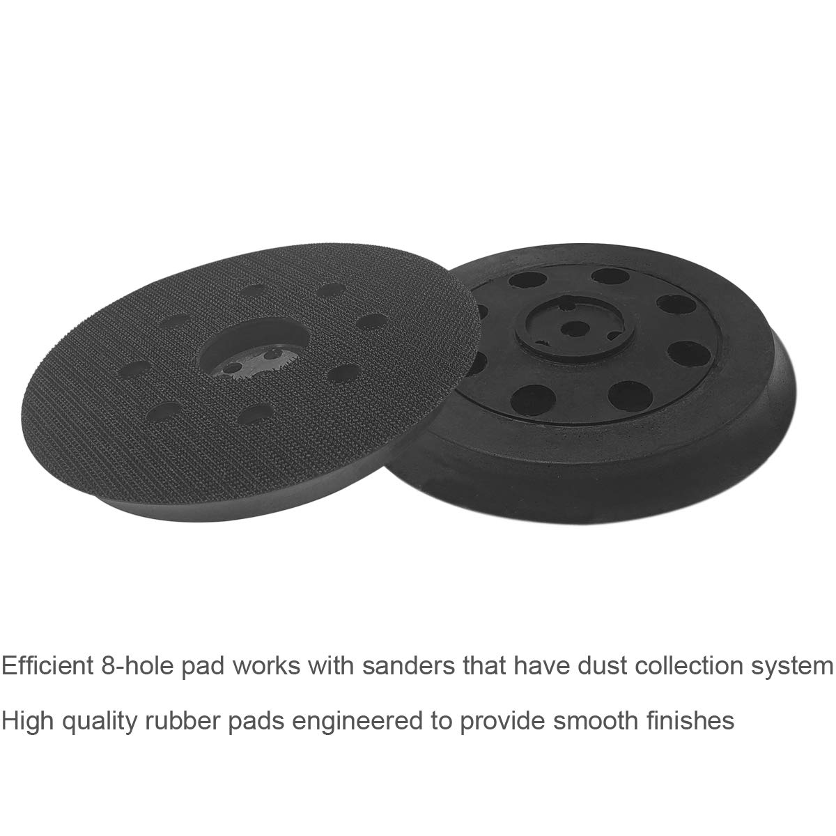 5 Inch Dia 8 Hole Sander Hook and Loop Hard Backing Pad Replacement Sanding pad for Bosch Sander