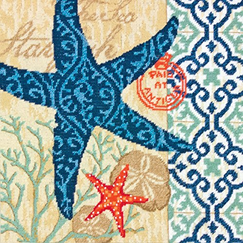 Nautical Needlepoint - Dimensions Needlepoint Kit, Starfish Pattern, 14'' x 14''
