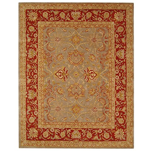 Safavieh Anatolia Collection AN529A Handmade Traditional Oriental Grey and Red Wool Area Rug (5' x 8')