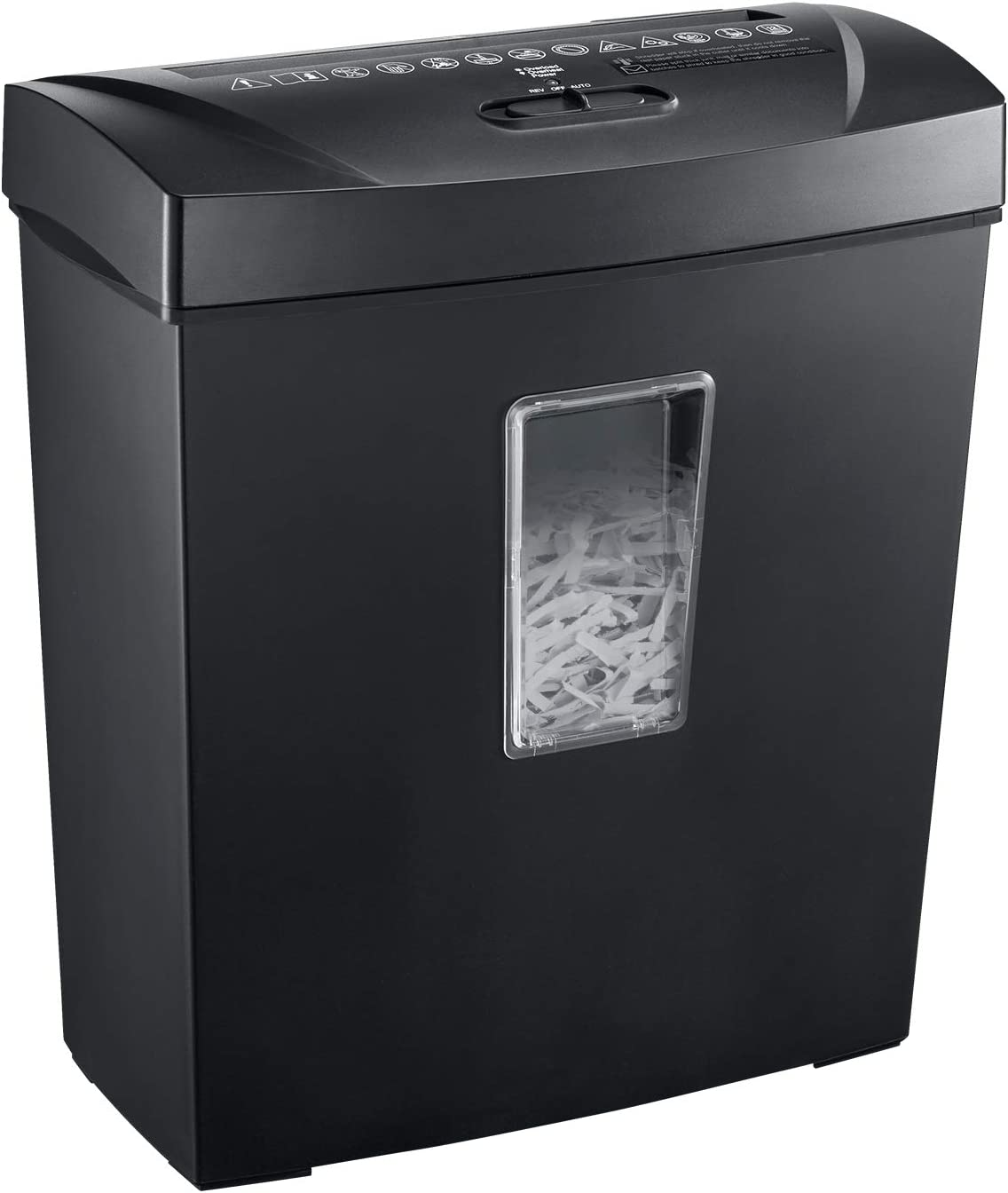 Bonsaii Paper Shredder, 12 Sheet Cross Cut Document and Credit Card Shredder for Home Use, Black(C170-C)