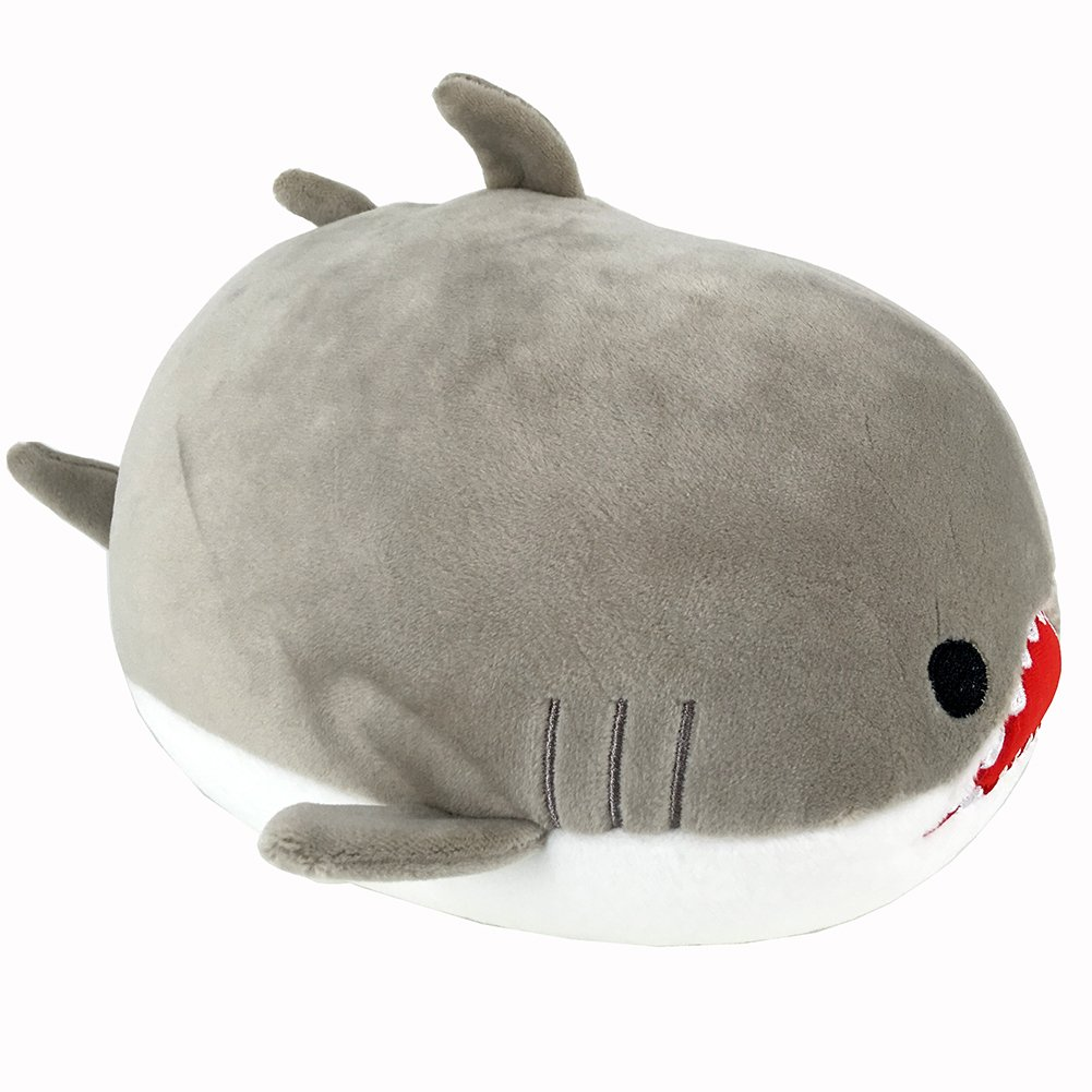 Garwarm Shark Stuffed Animals Plush Toy,Nano Foam Particles Plush Toy,Gray,8 Inch,1 Piece