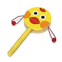 SODIAL(R) Jouet de tambour a main du bois instruments de musique pour enfants bebe