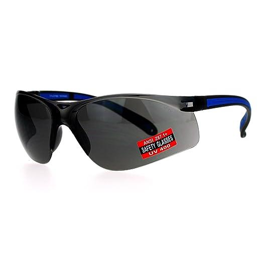 325ce3a3404328 Amazon.com  SA106 ANSI Z87.1+ Protection Half Rim Sport Safety ...