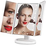 Big House Led Lighted Makeup Vanity Mirror - 180 Degree Rotation USB Charging or Battery Supply - 2X/3X Magnifying Desk Mirror with Lights - Compact Travel Design