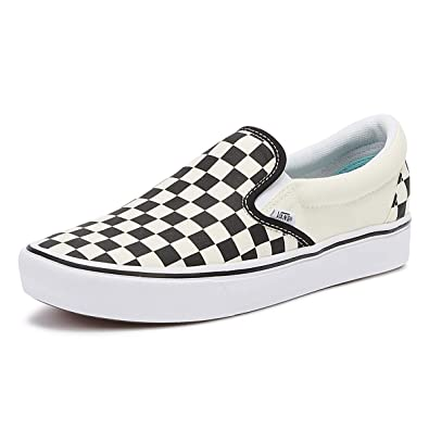 9411e77683 Vans Unisex ComfyCush Slip-On (Classic) Checkerboard True White 10.5 Women