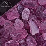 Blue Ridge Brand trade; Light Purple Fire Glass - 5-Pound Professional Grade Fire Pit Glass - 1/2'' Glass Rocks for Fire Pit and Landscaping