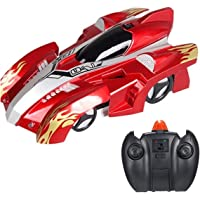 GAZtoy Remote Control Wall Climbing Transforming Stunt CAR - Dual Modes 360° Rotation Anti-Gravity with LED Lights in…