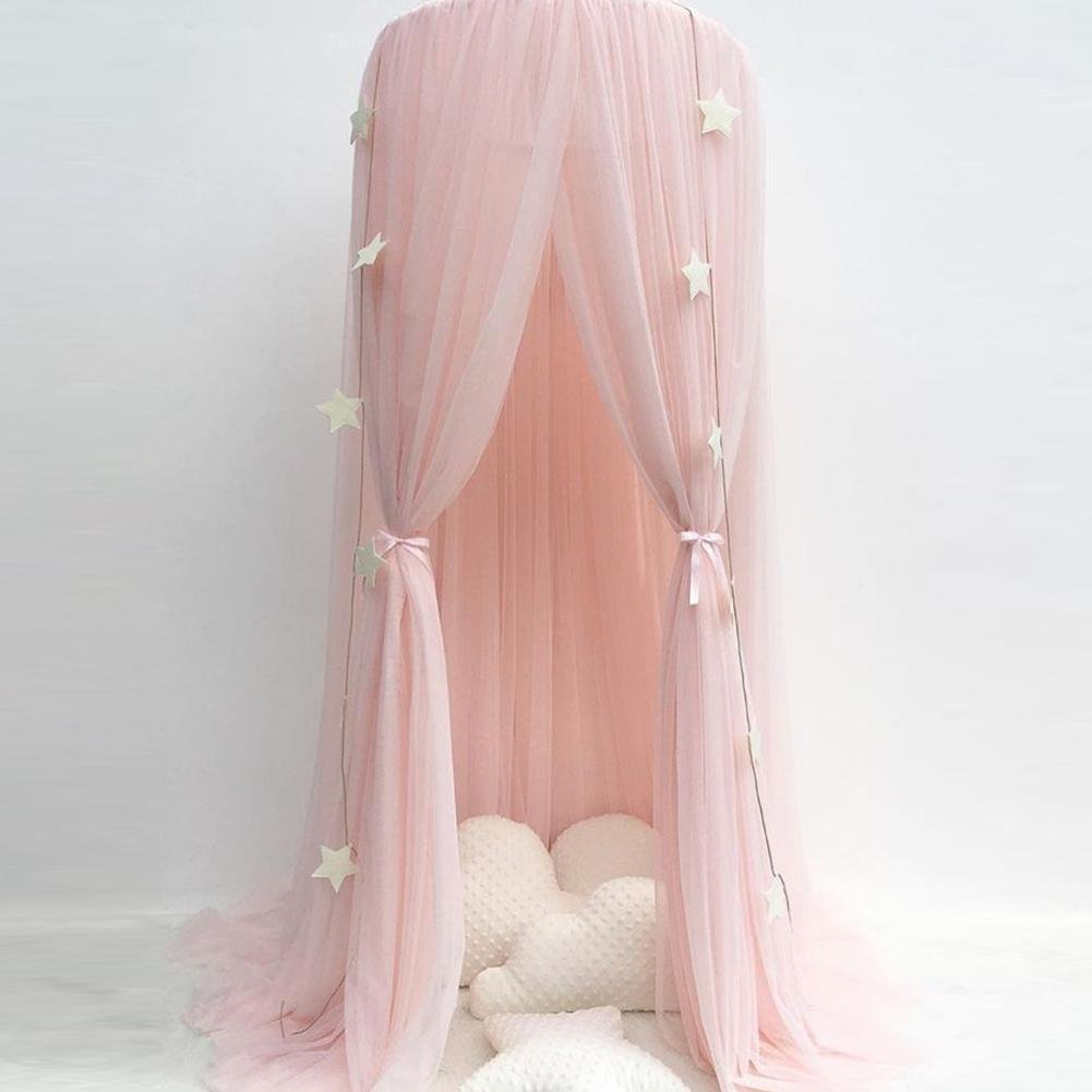 Wind-Susu Mosquito net Bed Set with Round lace Child Dome Fantasy Champion Net Curtains Play Play Tent Children's Bed Sky by Wind-Susu (Image #1)