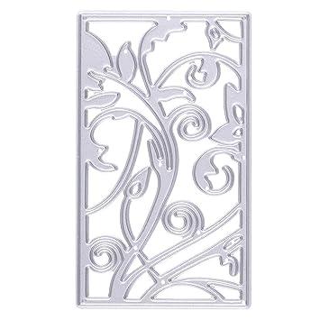 Plantilla de Corte de Flores Molde de Papel Recortado Tarjeta de Corte de Papel para Decoración