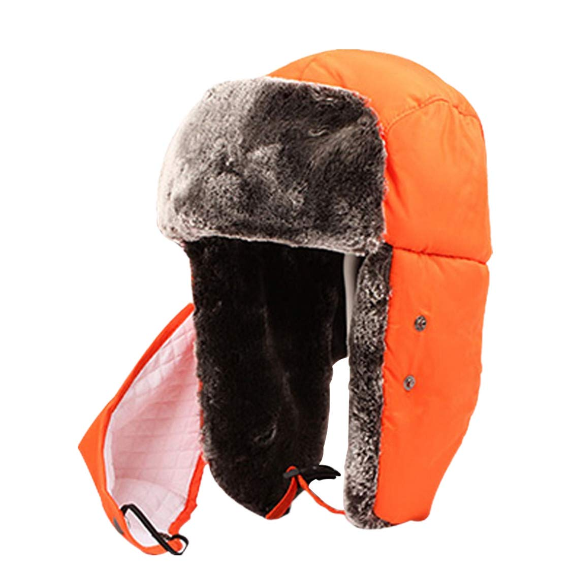 Children Winter Solid Trapper Bomber Hats with Neck Warm Scarf Masks Windproof Warm Ear Flaps