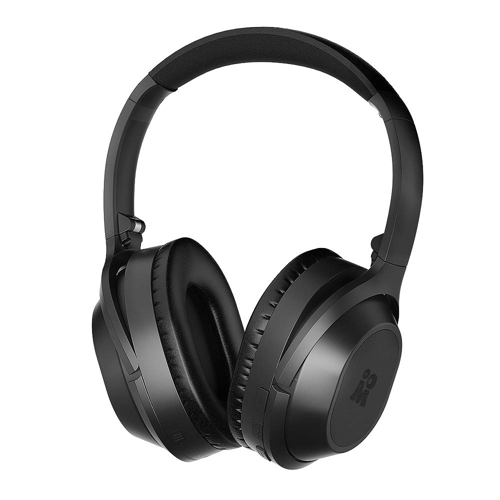 Mijiaer Active Noise Cancelling Headphones Bluetooth Headphones Wireless Headphones Over Ear with Mic, Stereo ANC Headphones, 35 Hrs Playtime for TV, PC, Phone, Laptop.