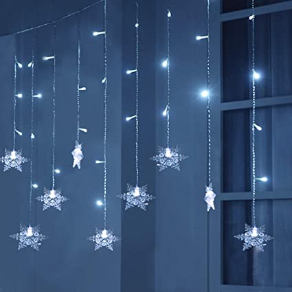 helen butler 96 led window curtain string light white 8 modes icicle curtain lights bedroom