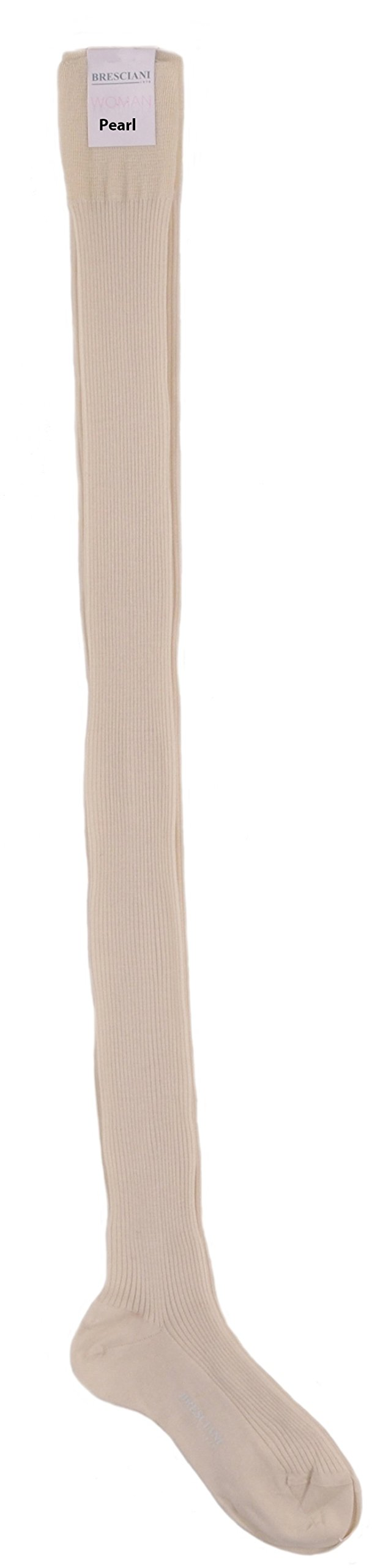 Ultimate Socks - Womens Cashmere and Silk Thigh-Highs One Pair Medium/Pearl