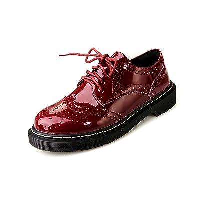 31d102209 Femme derby cuir vernis chaussure de ville à lacet rendez-vous ...