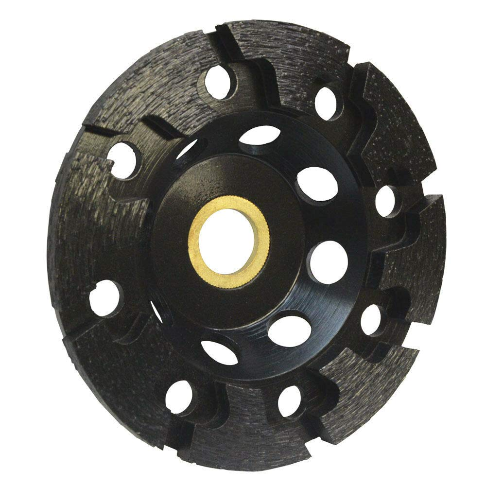 Moralty 4'' Grinding Diamond Cup Wheel T Segment 7/8'' - 5/8'' Concrete Masonry Stone Grind
