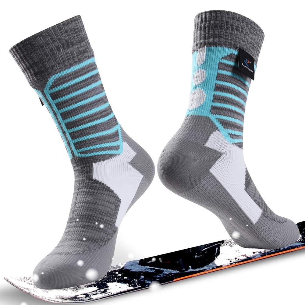 通気性防水ソックス、[ SGS認定]ランディSunユニセックス通気スキートレッキングハイキングソックス Medium Socks B07NYC14VF Medium|1 1 Pair-Grey&Blue-Waterproof Mid Calf Socks Medium Medium|1 Pair-Grey&Blue-Waterproof Mid Calf Socks, カイセイマチ:47515720 --- ero-shop-kupidon.ru