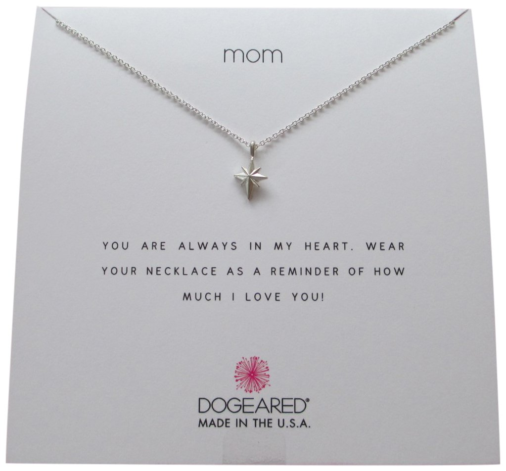 Dogeared Mom North Star Sterling Silver Wish Boxed 16''-18'' Necklace