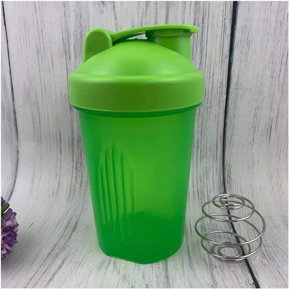 Blender Shaker Bottle with Classic Loop Top (BPA Free) – Best Protein Powder/Fruit Juice Mixer with Whisk Ball- 16 oz (Green)