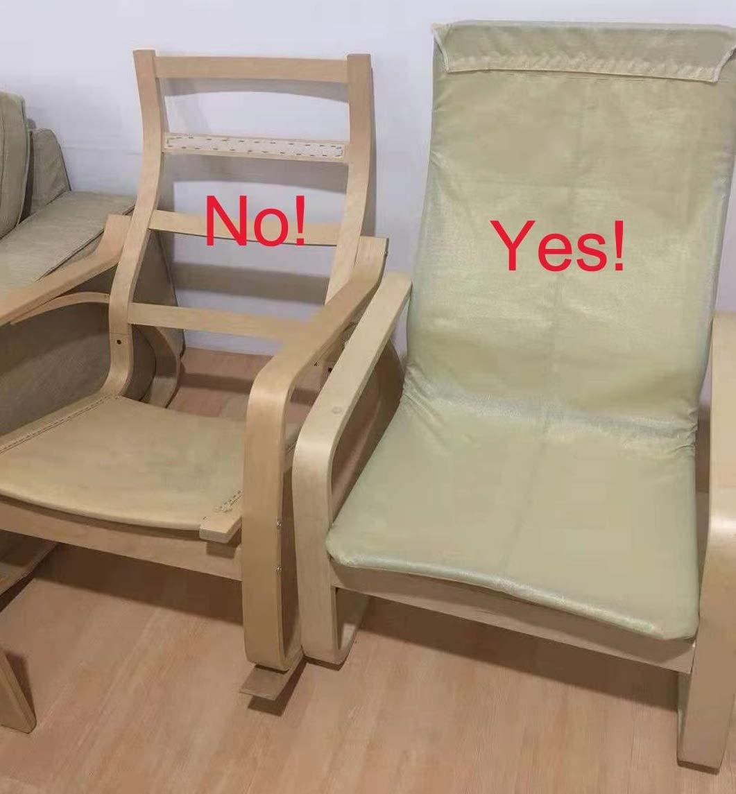 ¡Solo cubierta! ¡La silla no está incluida! El reemplazo de las fundas de la silla de algodón está hecho a medida para el sillón IKEA Pello. Gris ...