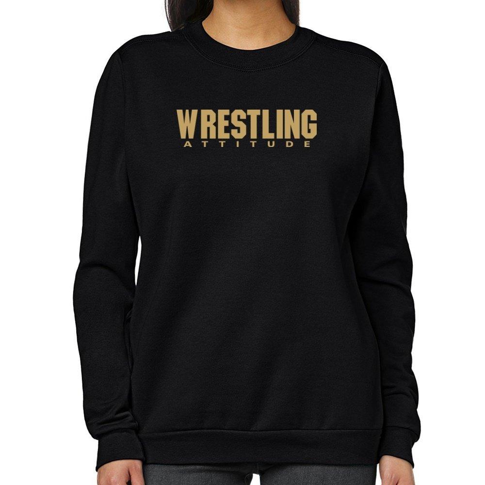 Teeburon Wrestling ATTITUDE Women Sweatshirt