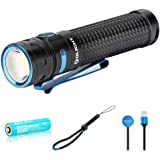 OLIGHT Baton Pro 2000 Lumens Compact Rechargeable Side-Switch LED Flashlight with Single 3500mAh 18650 Customized…