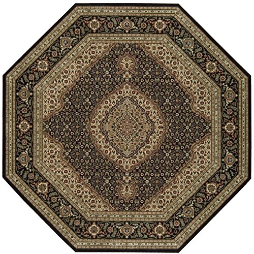 - Nourison Persian Arts (BD03) Black Octagon Area Rug, 5-Feet 3-Inches by 5-Feet 3-Inches (5'3