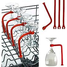 Coohole Stemware Saver, 4Pcs Adjust Silicone Wine Glass Dishwasher Goblet Holder Safer Stemware Saver