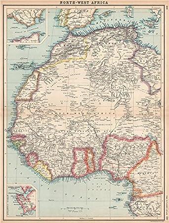 Amazon Com French West Africa Nigeria Gold Coast Rio De Oro