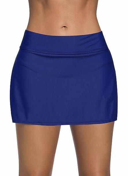 Mujer Shorts de Baño, Falda de Bikini con Falda Corta ...