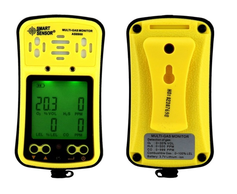 Amazon.com: SMART SENSOR Multi Gas Monitor Handheld Gas Detector LCD Display Sound Light Alarm Rechargeable Battery 4 in 1 gas analyzer: Home & Kitchen