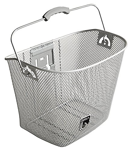 UPC 854581006063, MTS Basket with Bracket Silver, Front Quick Release Basket, Removable, Wire Mesh Bicycle basket, NEW, Silver